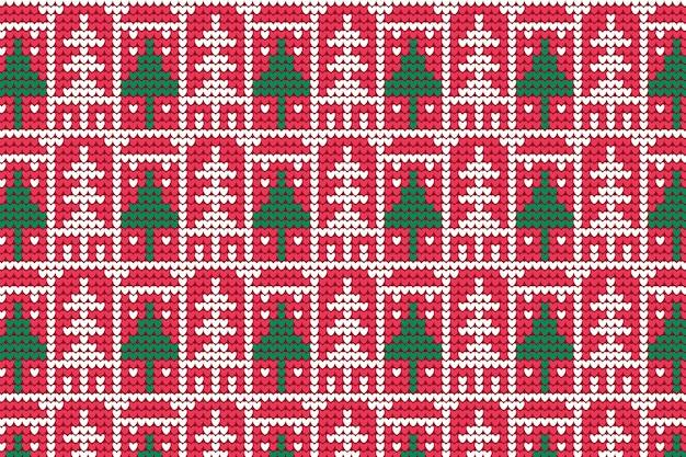 ニットクリスマスパターン 無料ベクター
