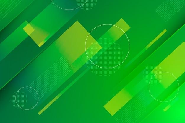 幾何学的な抽象的な緑の背景 無料ベクター