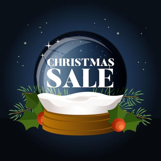 世界中でフラットなデザインのクリスマスセール 無料ベクター