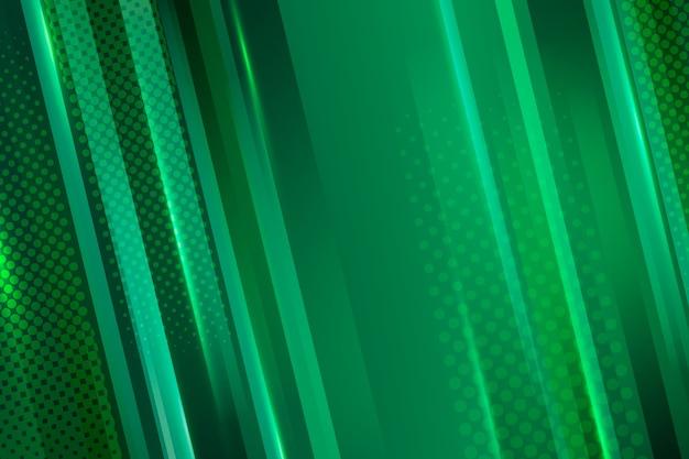 緑の抽象的な幾何学的な背景 無料ベクター
