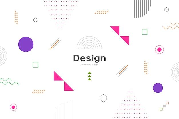 Мемфис стиль фона с красочными формами Бесплатные векторы