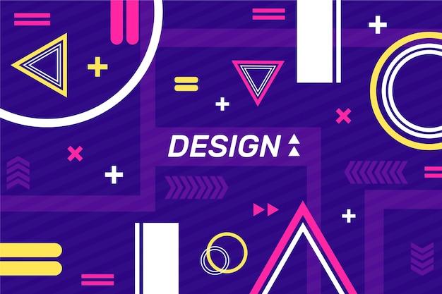 幾何学的図形の背景を持つデザインテンプレート 無料ベクター