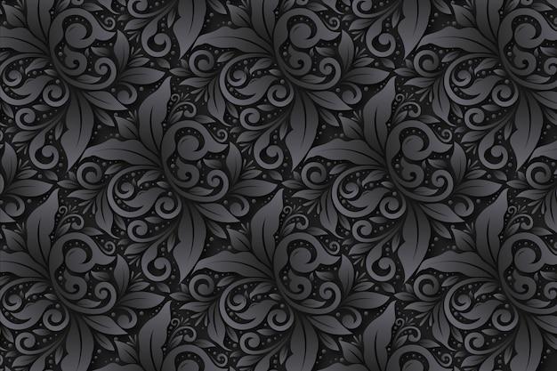 Абстрактные декоративные цветы фон Бесплатные векторы