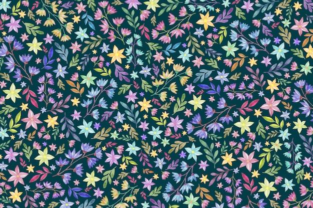 Красочный цветочный фон Бесплатные векторы