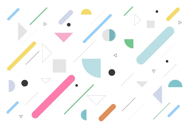 Геометрический фон с плоскими формами Бесплатные векторы