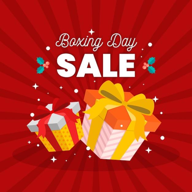 Плоский дизайн концепции продажи день бокса Бесплатные векторы