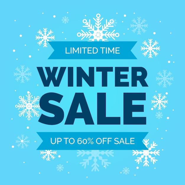 Квартира зимняя распродажа ограничено Бесплатные векторы