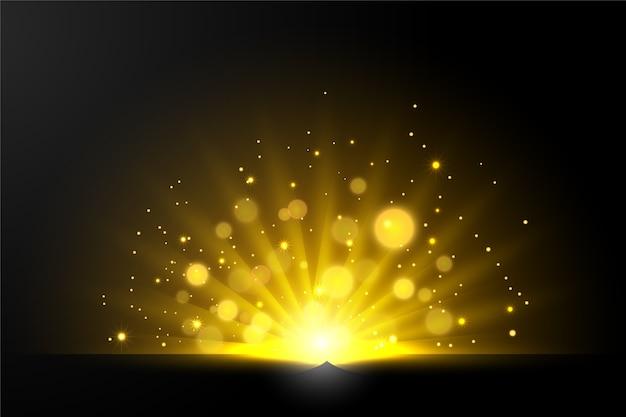 Световой эффект сияющего восхода солнца Бесплатные векторы