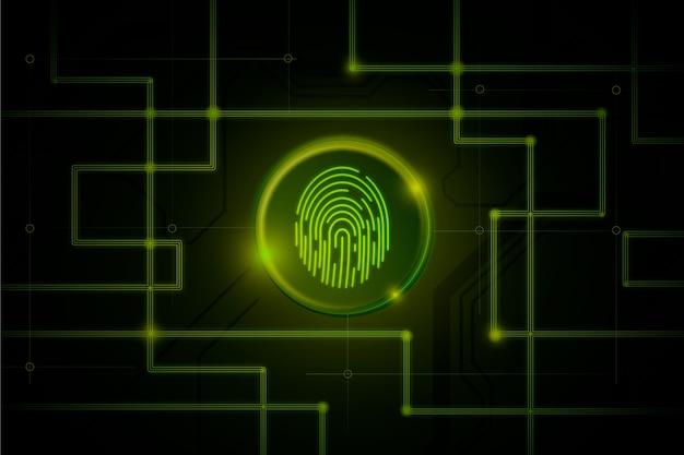 Темно-зеленый неоновый фон отпечатков пальцев Бесплатные векторы
