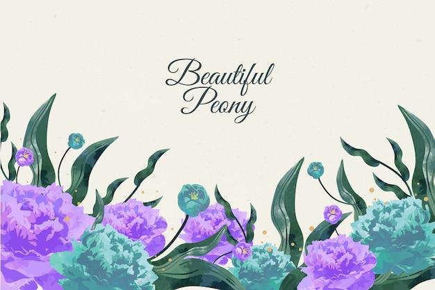 美しい手描きの花の背景 無料ベクター