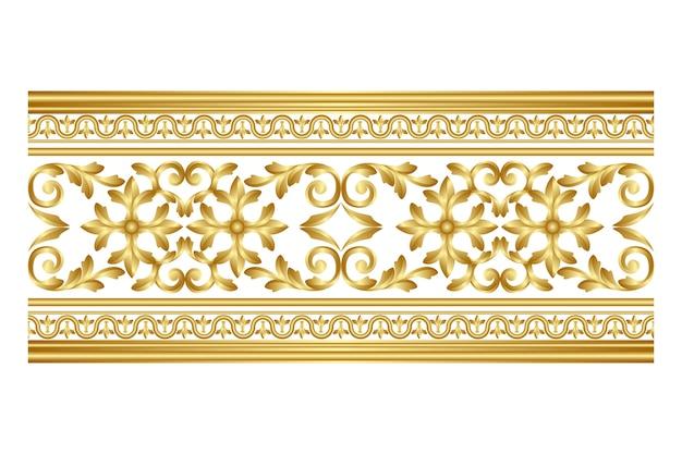 黄金の装飾的なボーダー 無料ベクター
