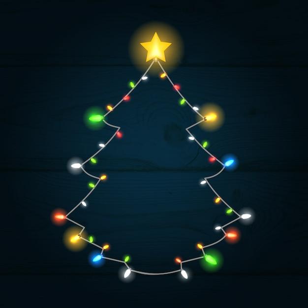 Светящиеся елки фон Бесплатные векторы