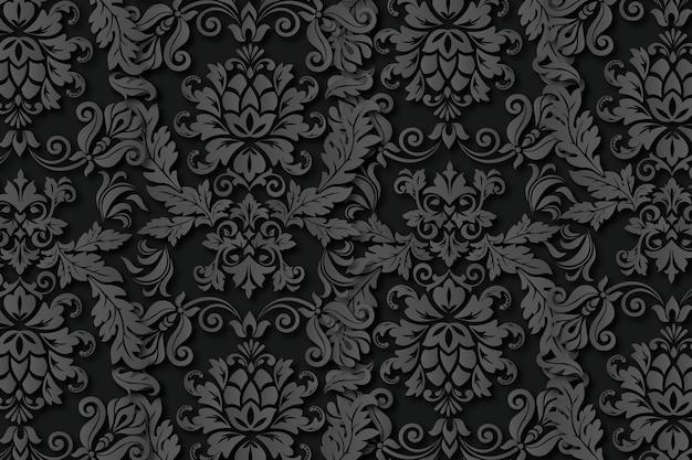 ヴィンテージの抽象的な装飾用の花の背景 無料ベクター