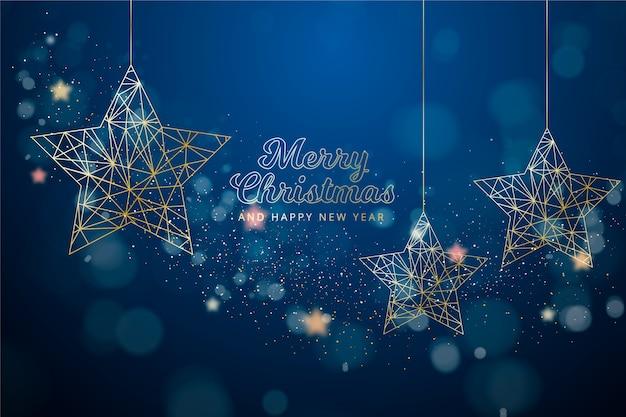 アウトラインスタイルのクリスマス背景 無料ベクター