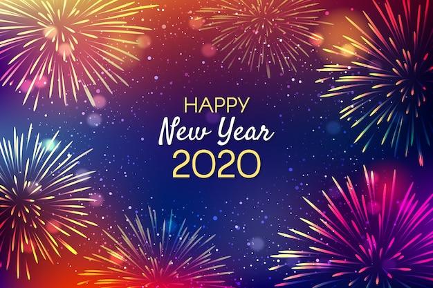 Фон фейерверк новый год Бесплатные векторы