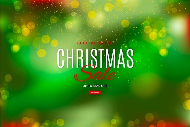 特別提供のぼやけたクリスマスセール 無料ベクター