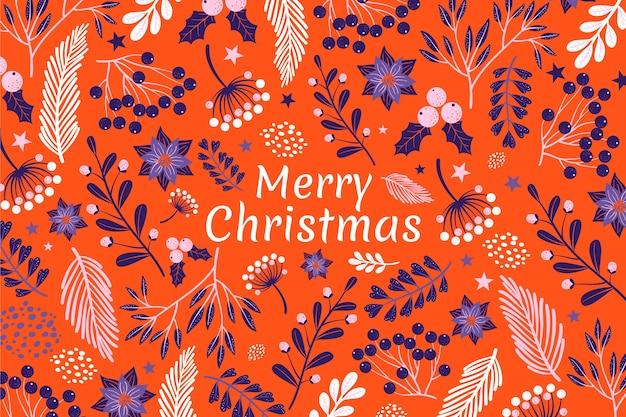 メリークリスマスの背景概念 無料ベクター