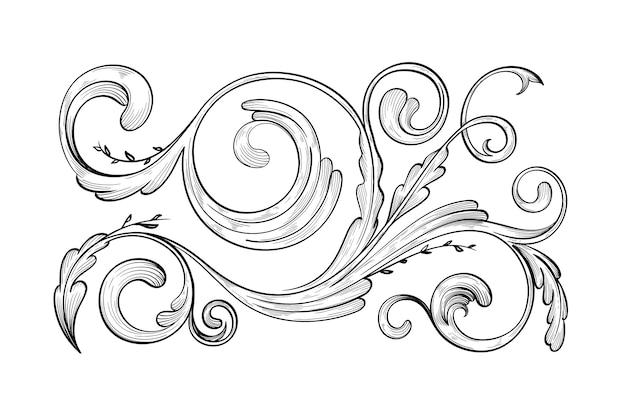 リアルな手描きの装飾用ボーダー 無料ベクター