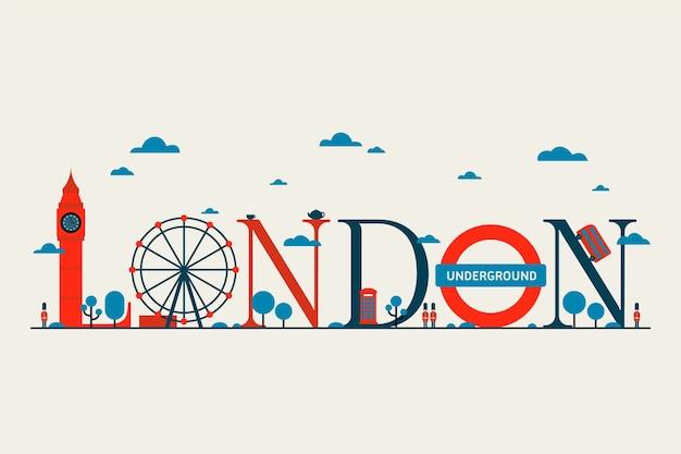 Надпись на лондонском сити Бесплатные векторы