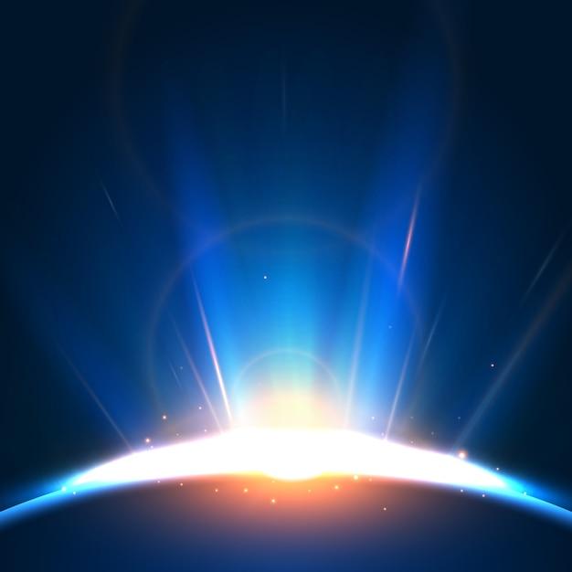 Световой эффект абстрактного восхода солнца Бесплатные векторы