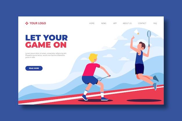 屋外スポーツのランディングページのコンセプト 無料ベクター
