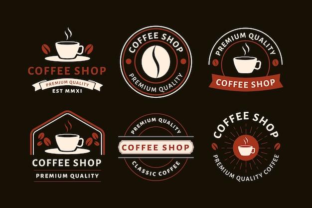 コーヒーショップヴィンテージロゴコレクション 無料ベクター