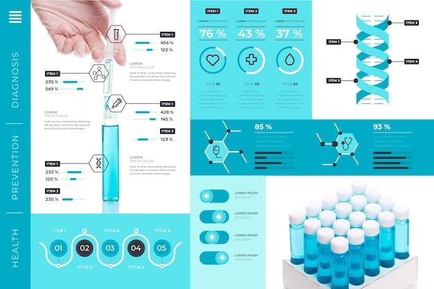 Медицинская инфографика с изображением Бесплатные векторы