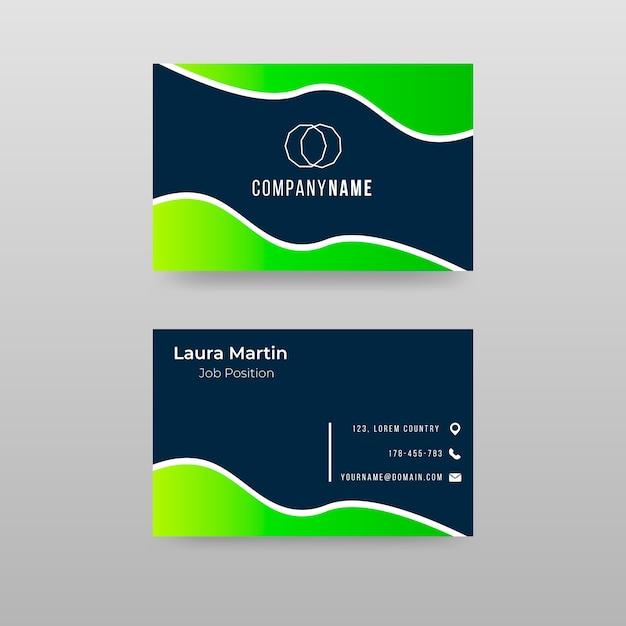 Красочный абстрактный шаблон визитной карточки Бесплатные векторы