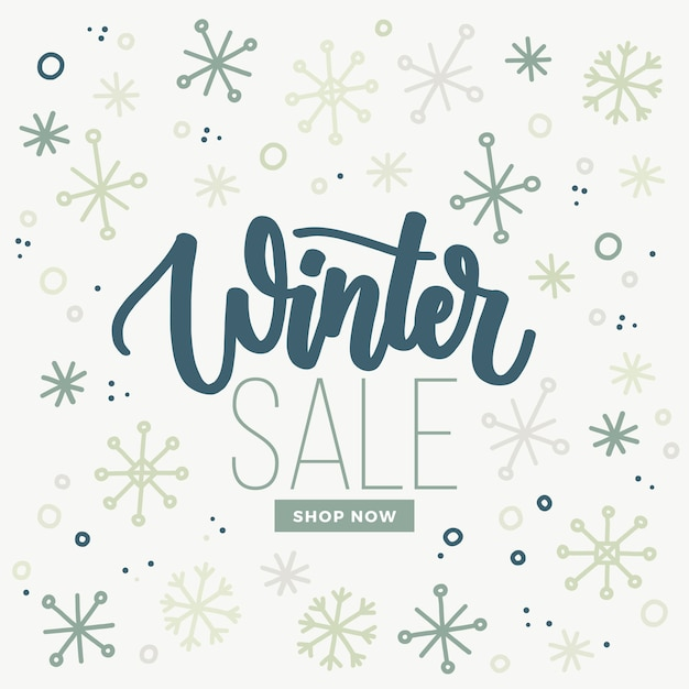 Ручной обращается зимняя распродажа Бесплатные векторы