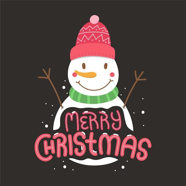 Рождественский персонаж с буквами Бесплатные векторы