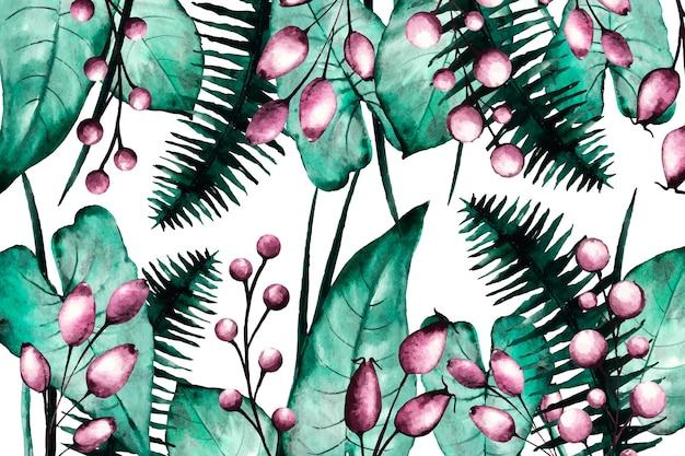 Раскрашенный вручную реалистичный цветочный фон Бесплатные векторы