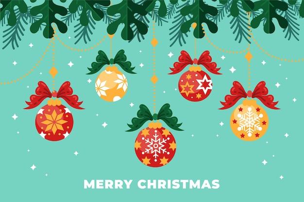 Счастливого рождества фон концепции Бесплатные векторы
