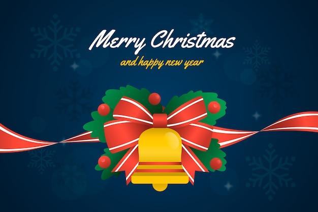 Рождественская лента фон Бесплатные векторы