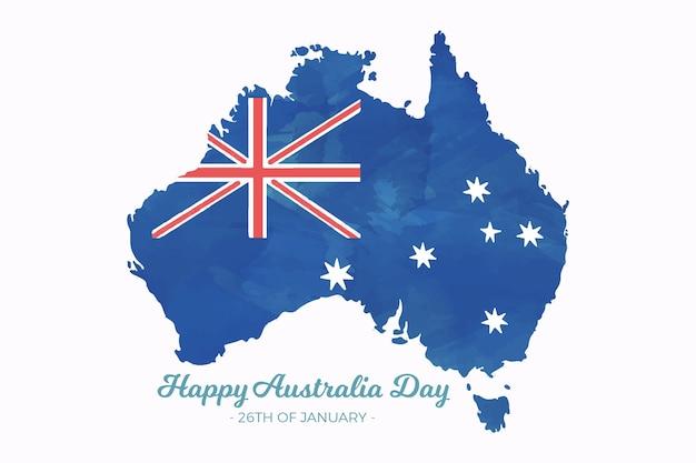 День акварели австралии Бесплатные векторы