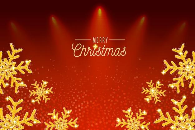 キラキラ効果と背景クリスマス 無料ベクター
