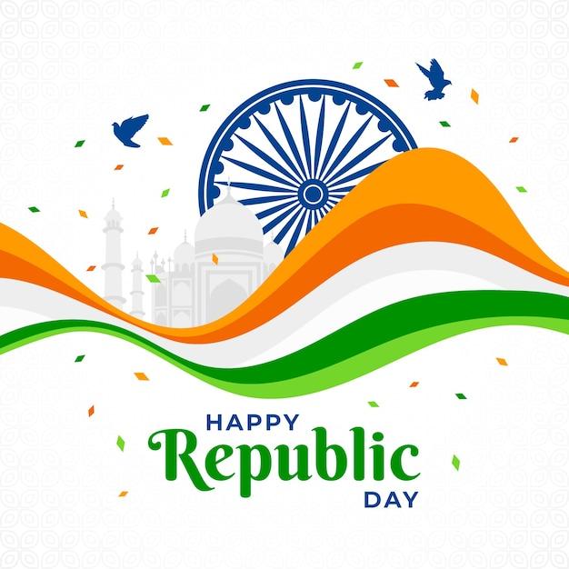 День индийской республики в плоском дизайне Бесплатные векторы