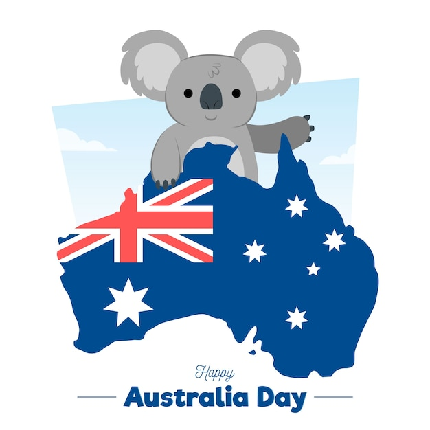 手描きオーストラリア日 無料ベクター