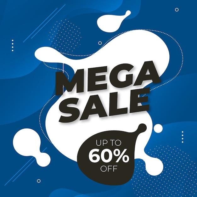 Классическая синяя мега распродажа Бесплатные векторы