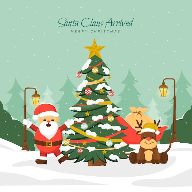 Урожай рождественская елка Бесплатные векторы