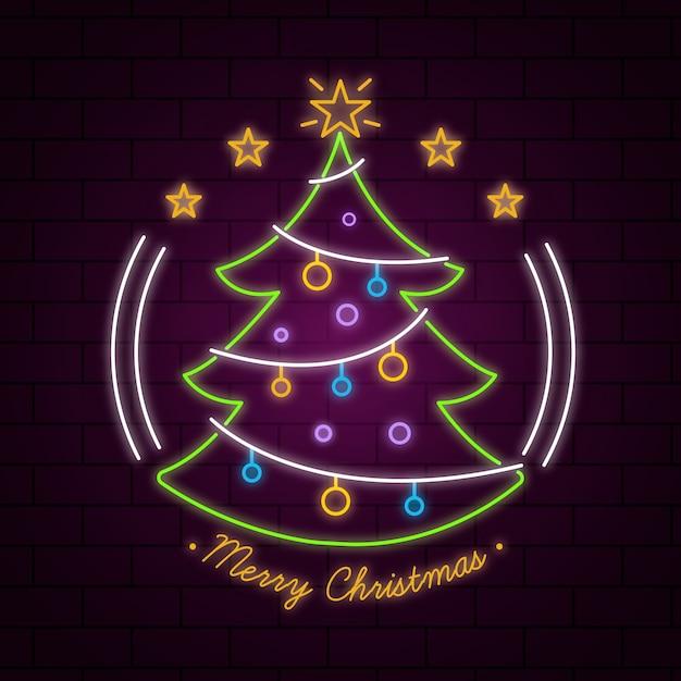 Милая рождественская елка Бесплатные векторы
