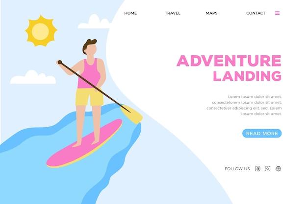 Открытая спортивная посадочная страница Бесплатные векторы
