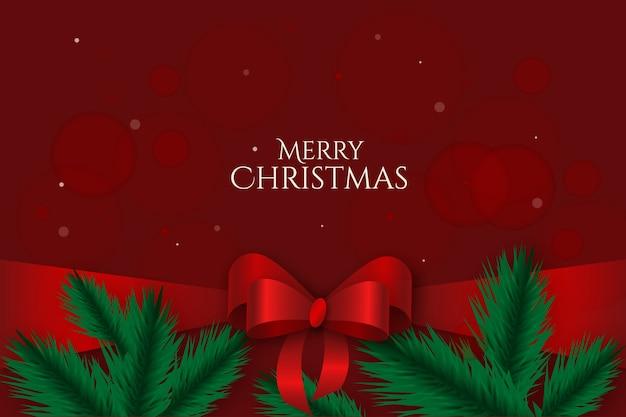 Милая рождественская лента Бесплатные векторы