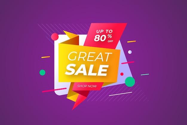 Бумага для оригами красочный стиль большой продажи Бесплатные векторы