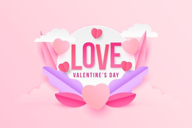 Любовь ко дню святого валентина и цветы Бесплатные векторы