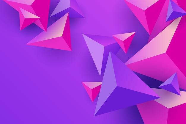 Розовые и фиолетовые треугольники обои Бесплатные векторы