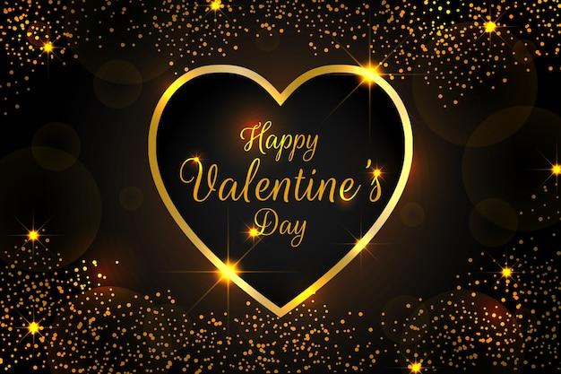 光沢のある要素を持つエレガントなバレンタインデーの背景 無料ベクター