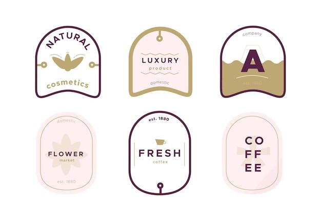 会社の最小限のロゴのビンテージデザイン 無料ベクター