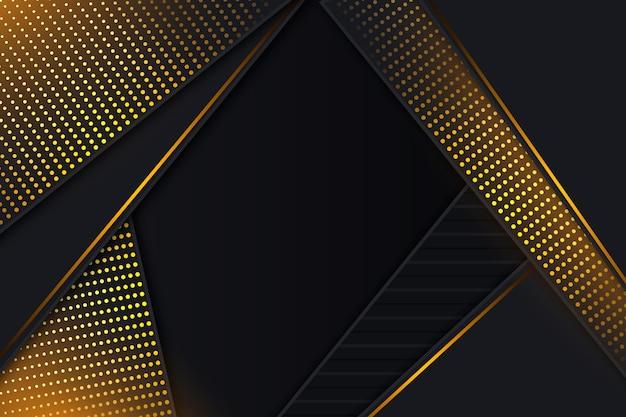 黄金の詳細と暗い紙の背景 無料ベクター
