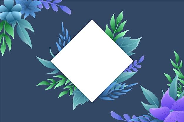 Копирование пространства зимних цветов фона Бесплатные векторы