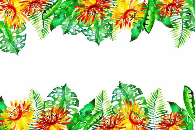 Обои с разноцветными экзотическими цветами Бесплатные векторы